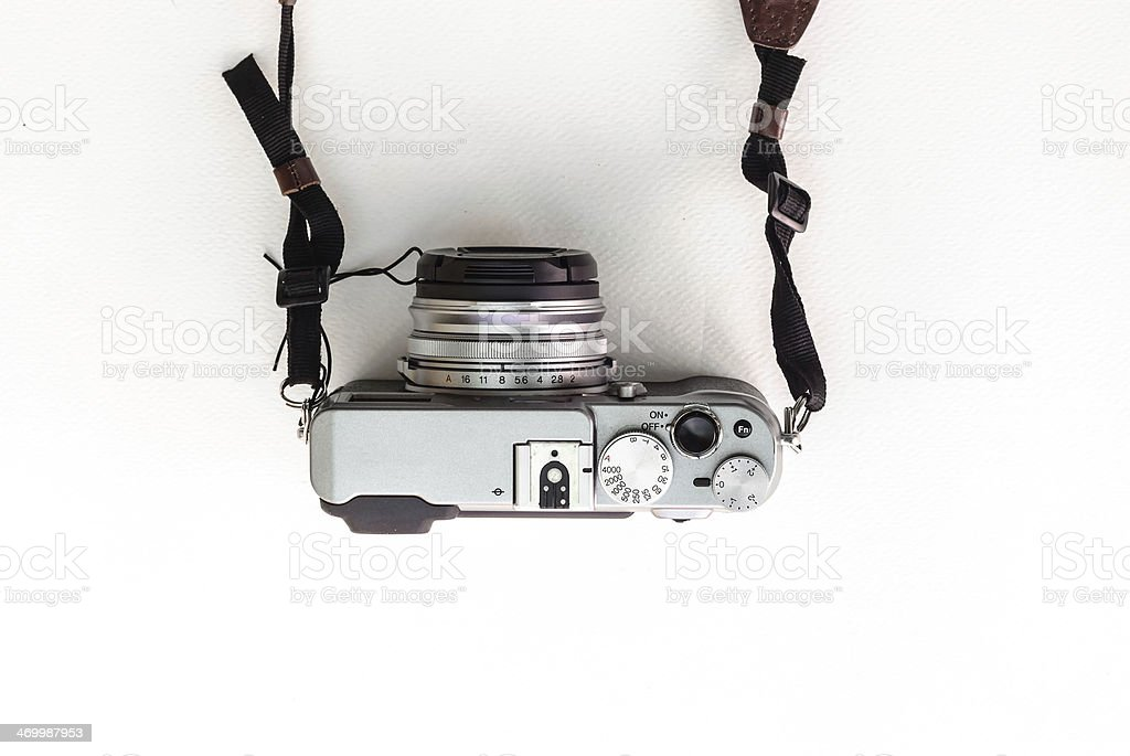 Classic Camera Top View stock photo