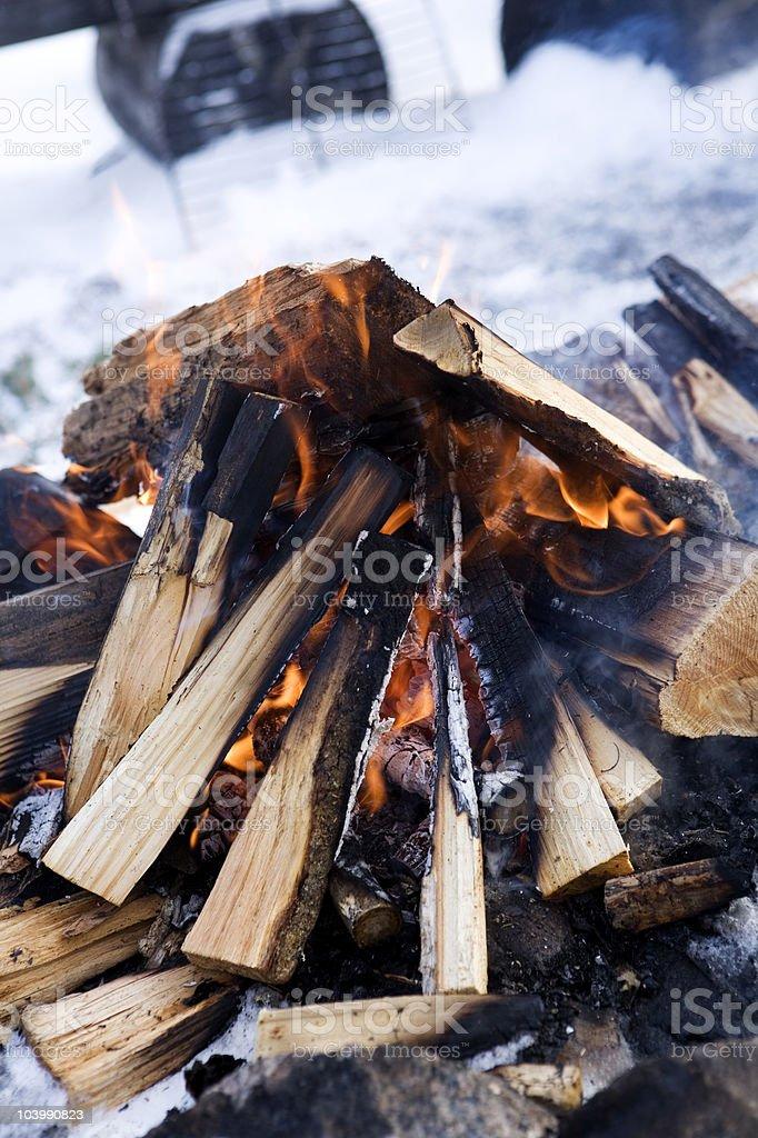 Classic Campfire stock photo
