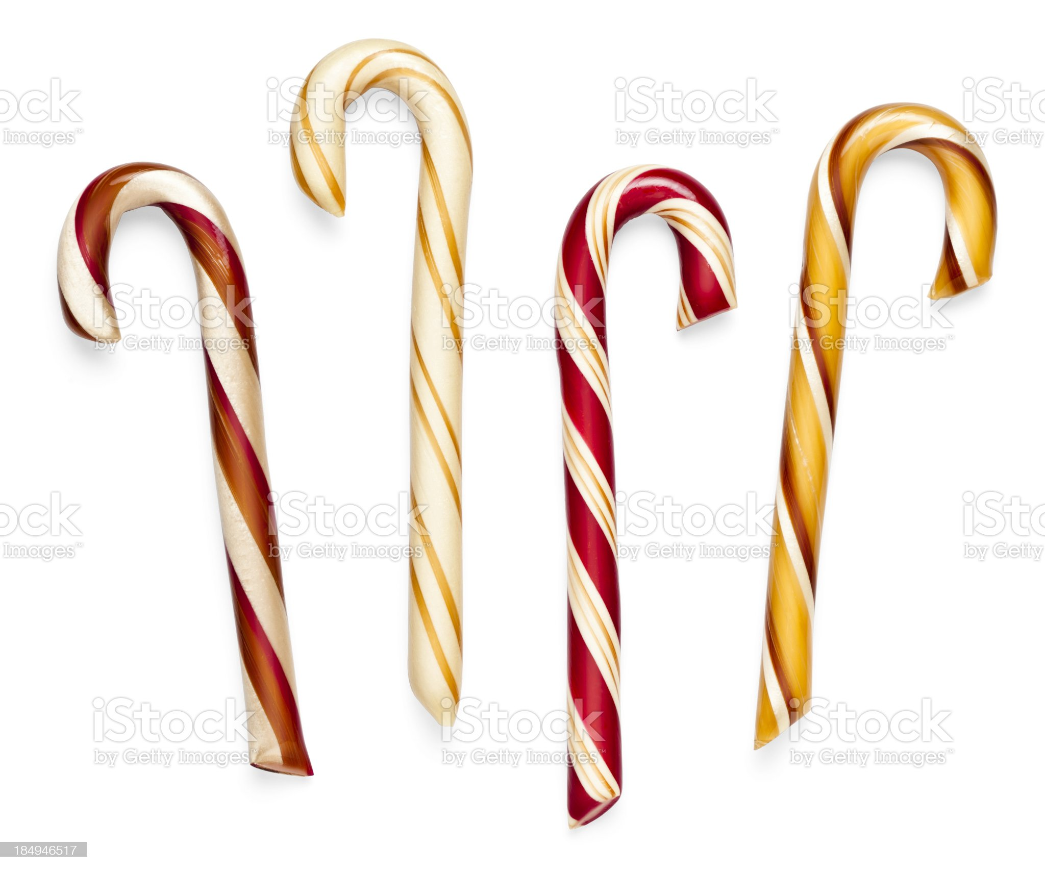 Classic Candy Canes Isolated (Clipping Path) royalty-free stock photo