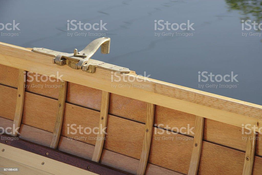 Classic canoe stock photo
