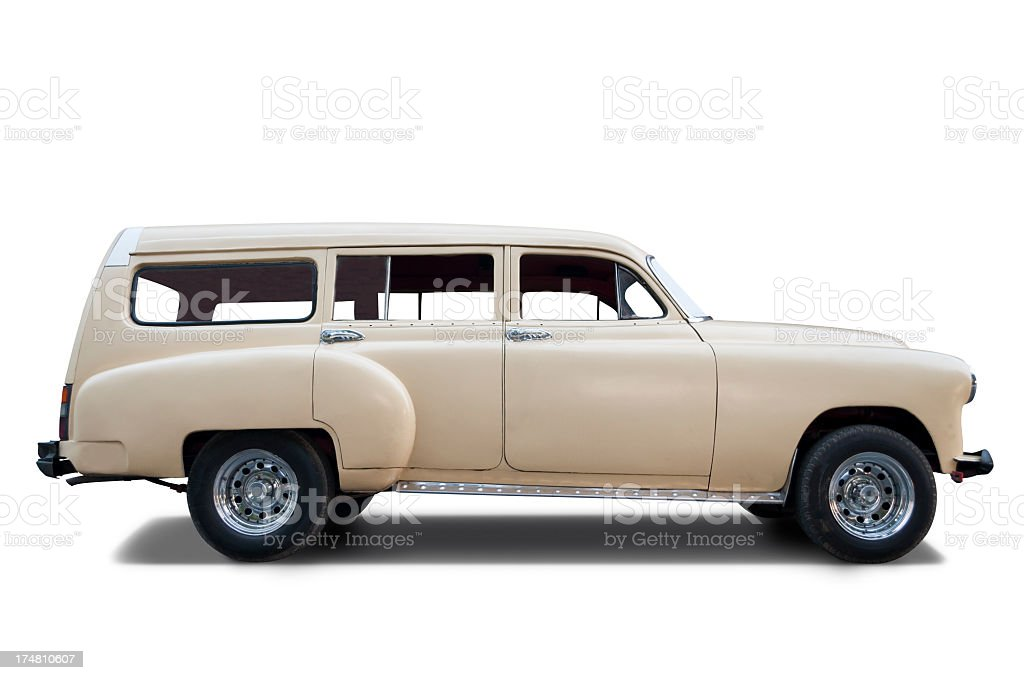 Classic car 1950 stock photo