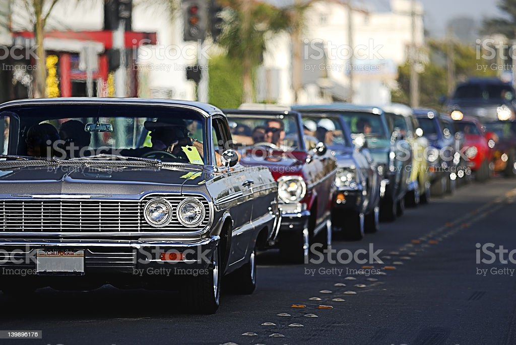 Classic Car Cruising 2 stock photo