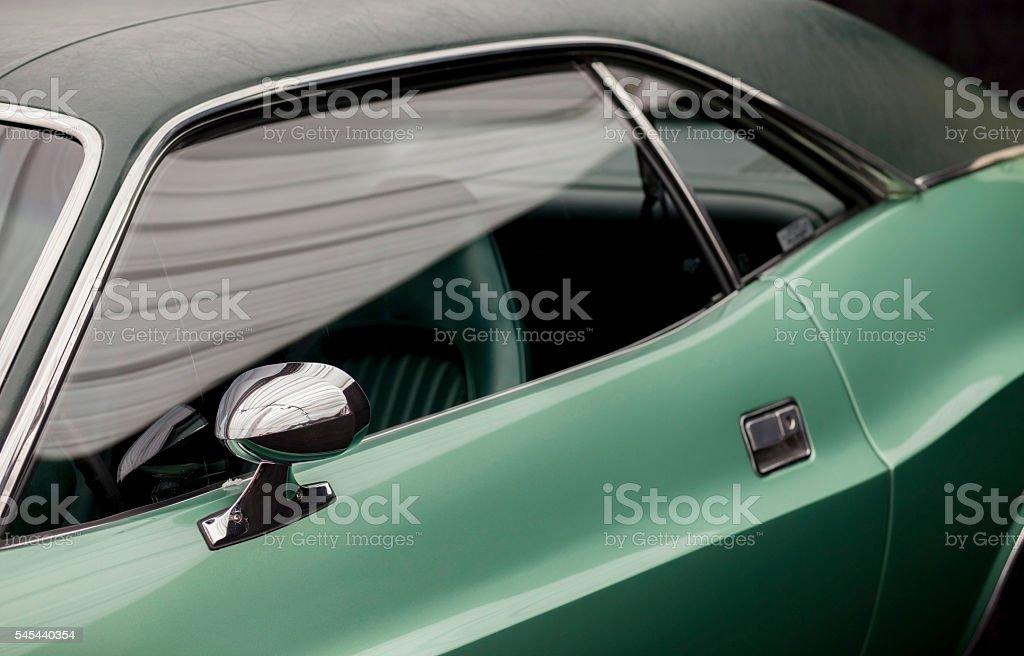 Classic car design- side stock photo