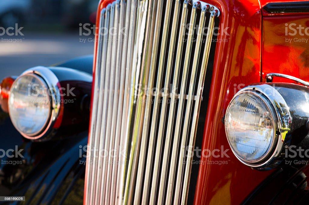 Classic car detail - Stock image stock photo
