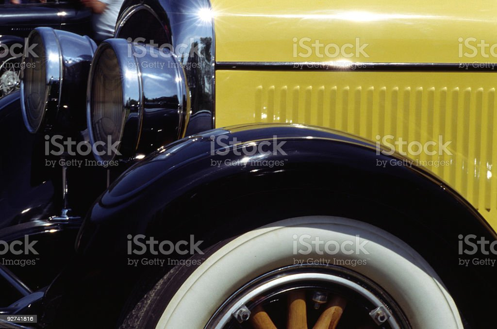 Classic Car Fender royalty-free stock photo