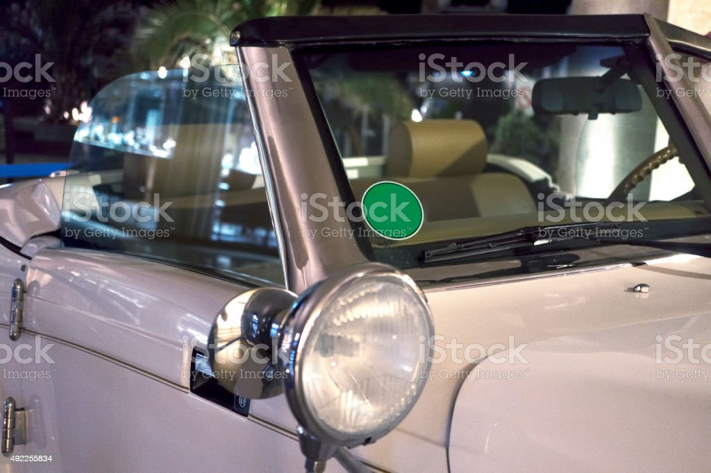 Classic Car Front Detail stock photo