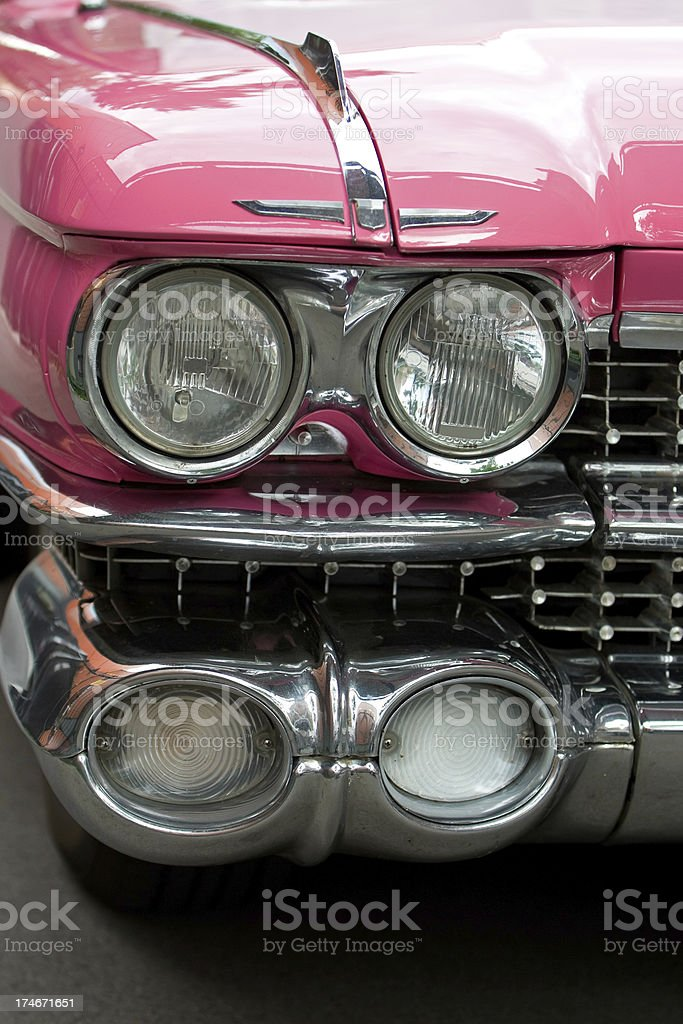Classic Car Front Lights stock photo