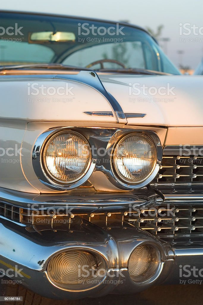 Classic Car Headlamps royalty-free stock photo