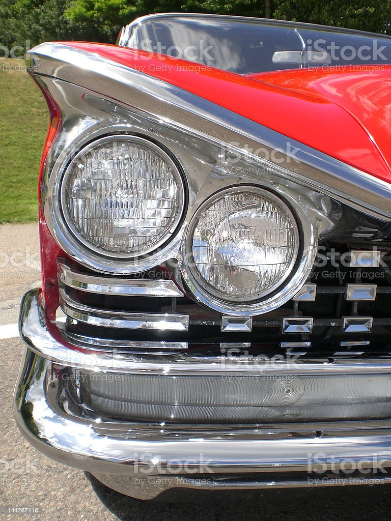 Classic Car Headlights royalty-free stock photo