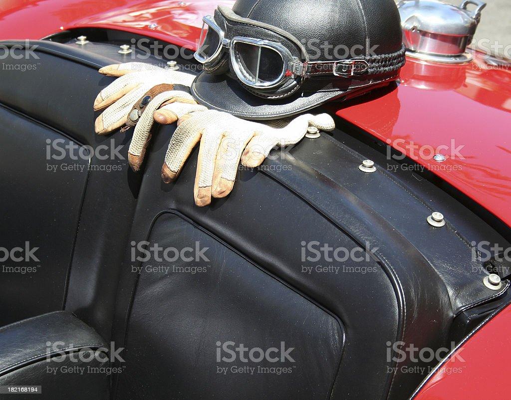 Classic car helmet-1 royalty-free stock photo