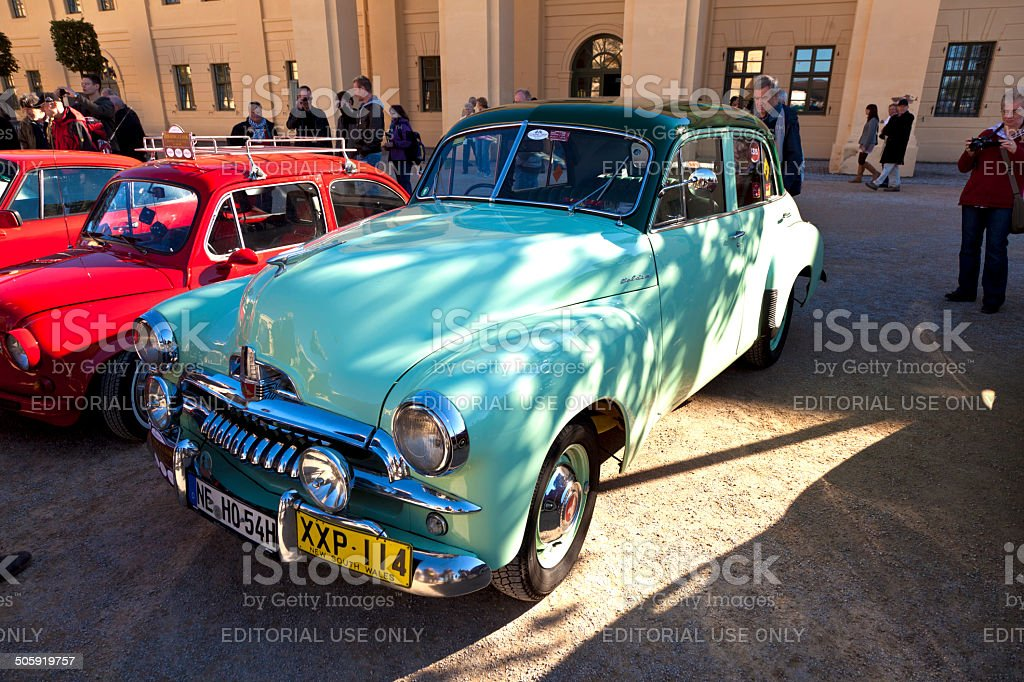 classic car Holden at the BUGA flower show stock photo
