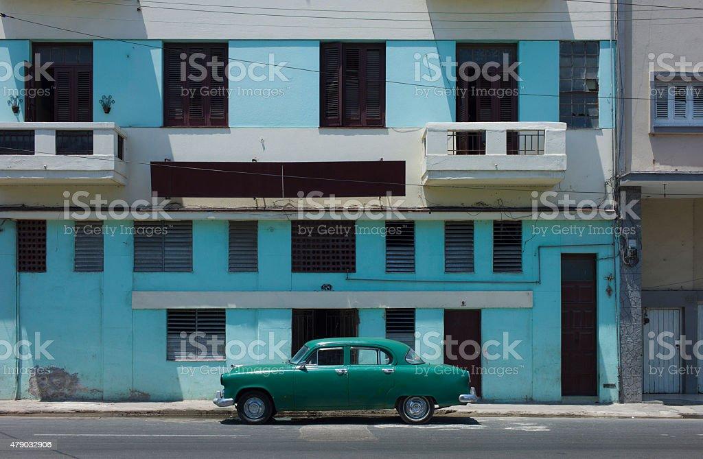 Classic car in Havana stock photo