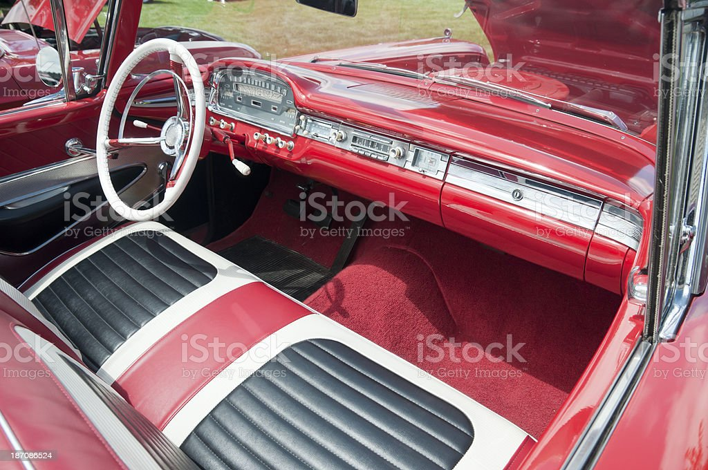 Classic Car Interior royalty-free stock photo