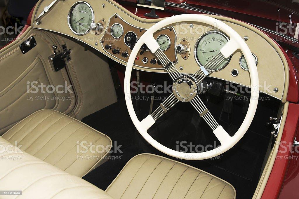 Klasyczny Wnętrze samochodu zbiór zdjęć royalty-free