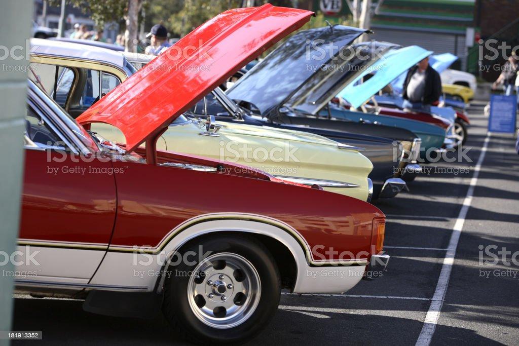 Classic Car Line stock photo