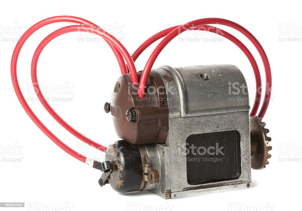 Classic Car Magneto (Engine Part) stock photo