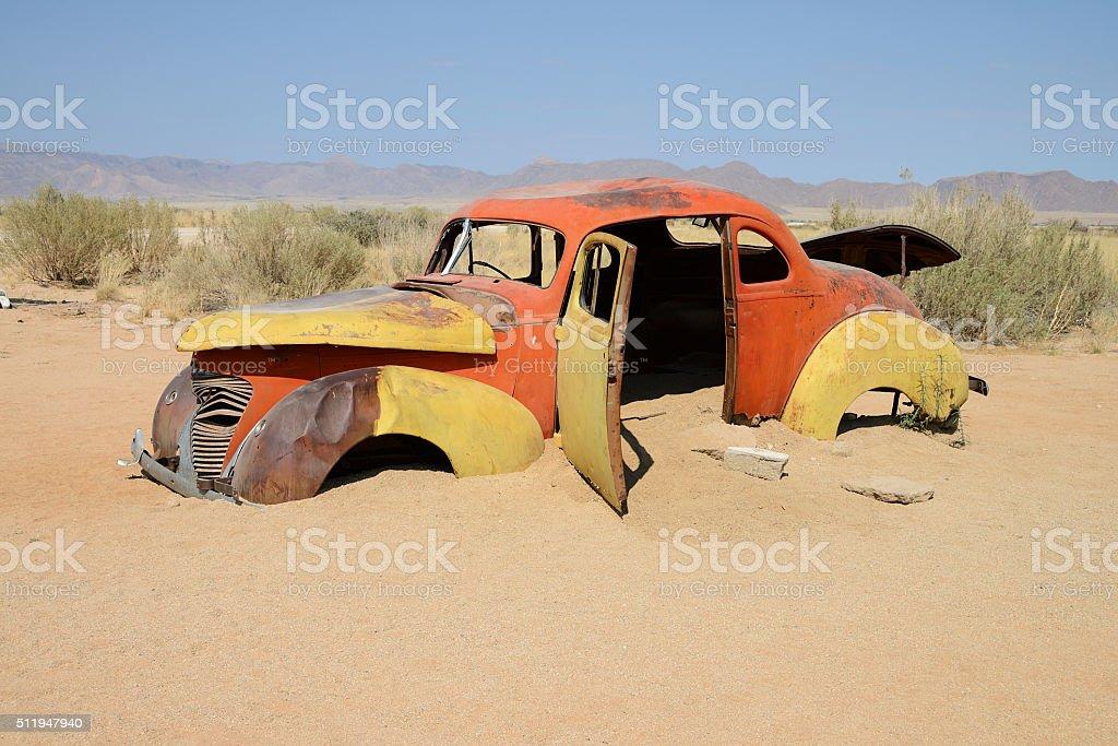 Classic car, Namib, Namibia stock photo