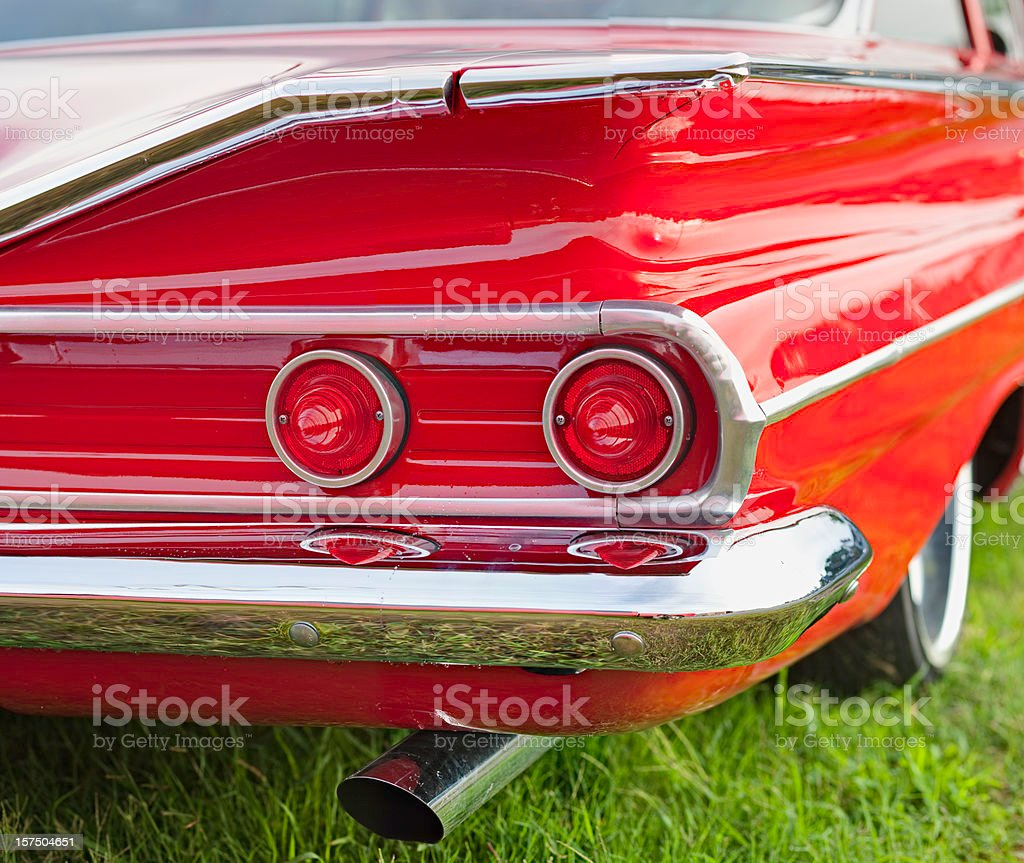 Classic Car Series- Tailfin royalty-free stock photo