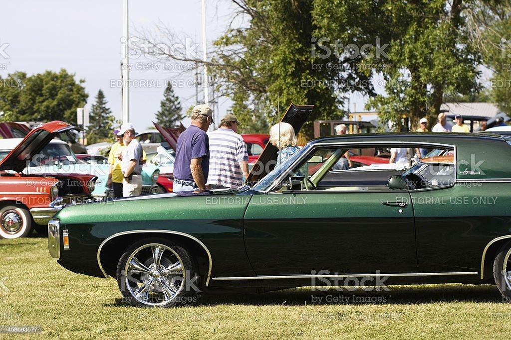 Classic Car Show - 1969 Chevrolet Impala stock photo