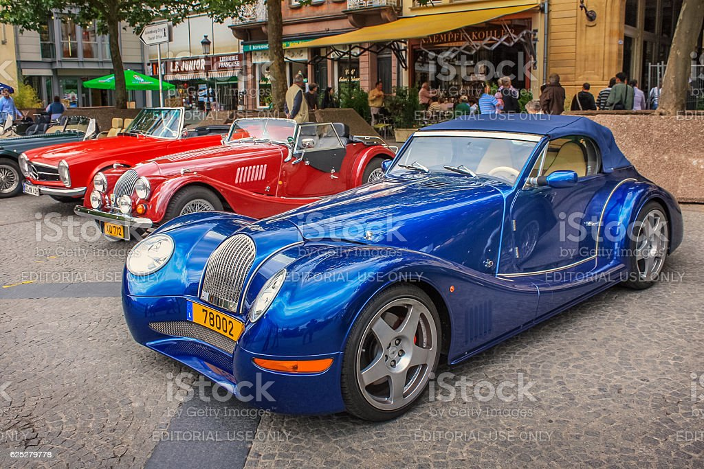 Classic Car Show in Downtown Luxembourg stock photo