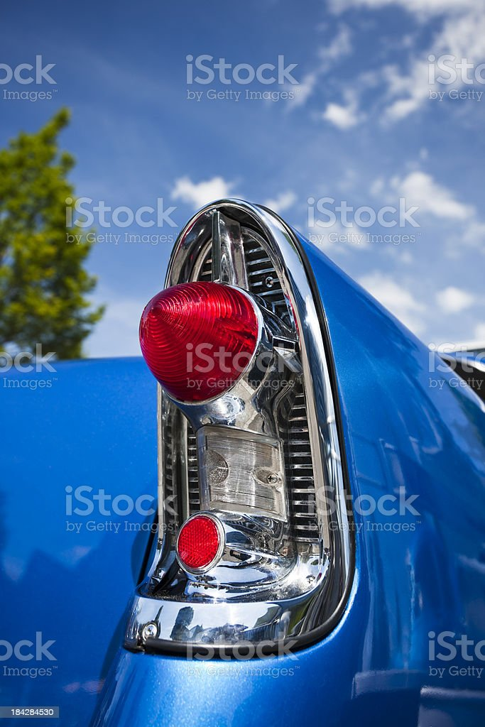 Classic Car Tail Fin royalty-free stock photo