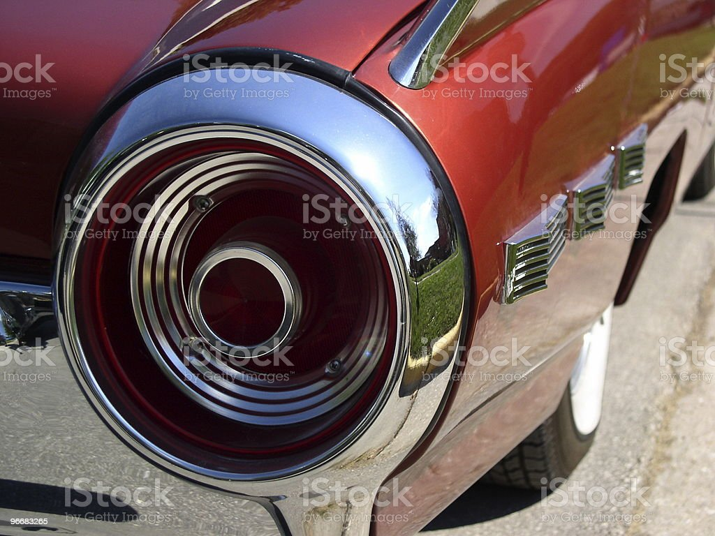 Classic Car Tail Light royalty-free stock photo