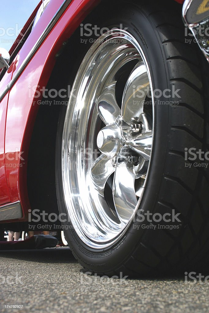 Classic Car Wheel royalty-free stock photo
