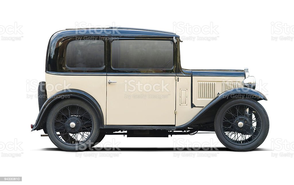 Classic car with clipping paths stock photo