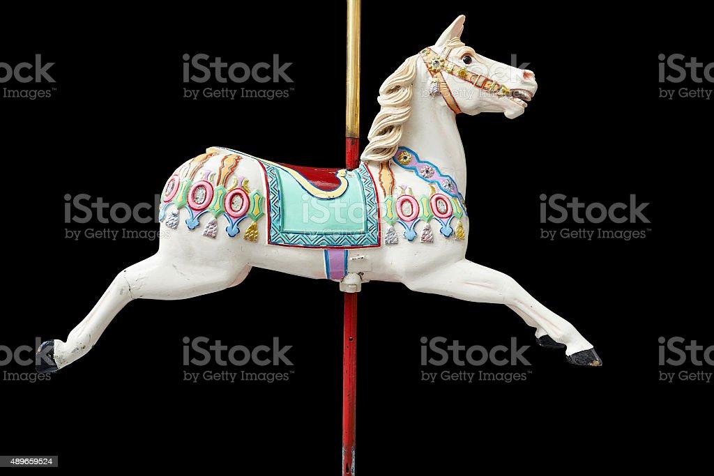 Classic carousel horse stock photo