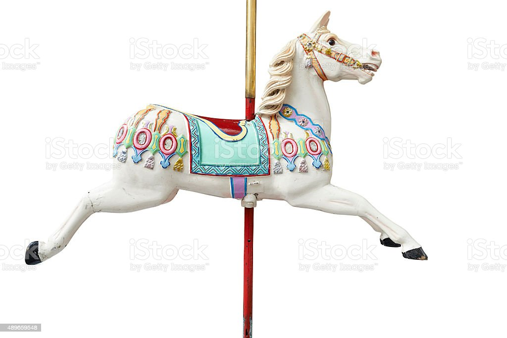 Classic carousel horse stock photo