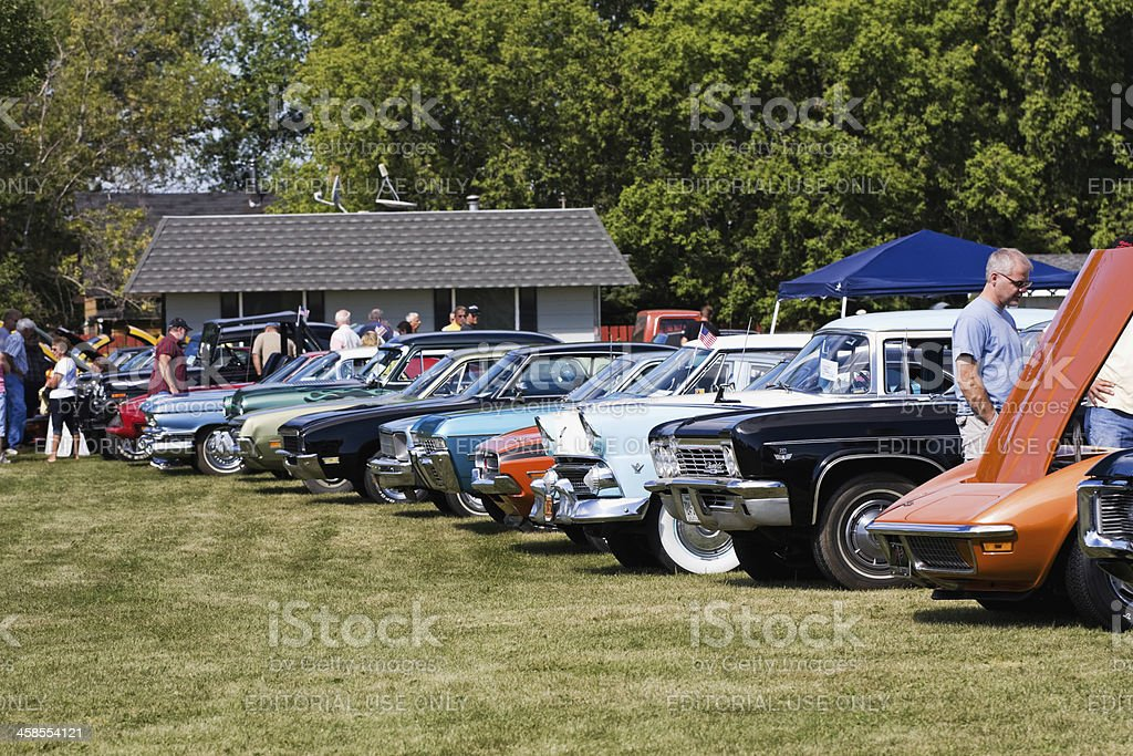 Classic Cars at a Show stock photo