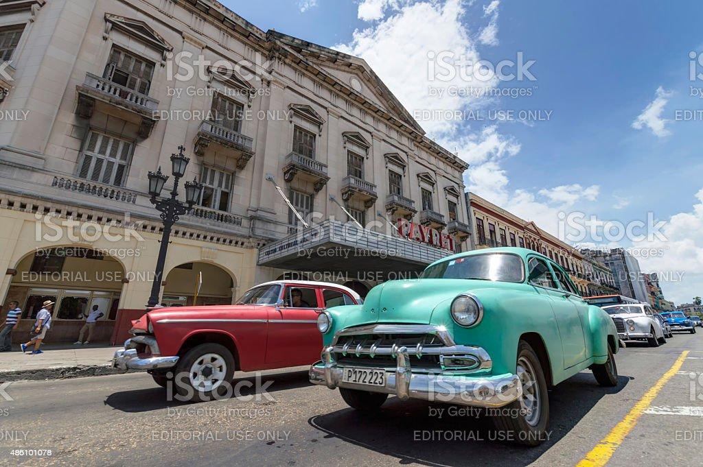 Classic cars in Cuba stock photo