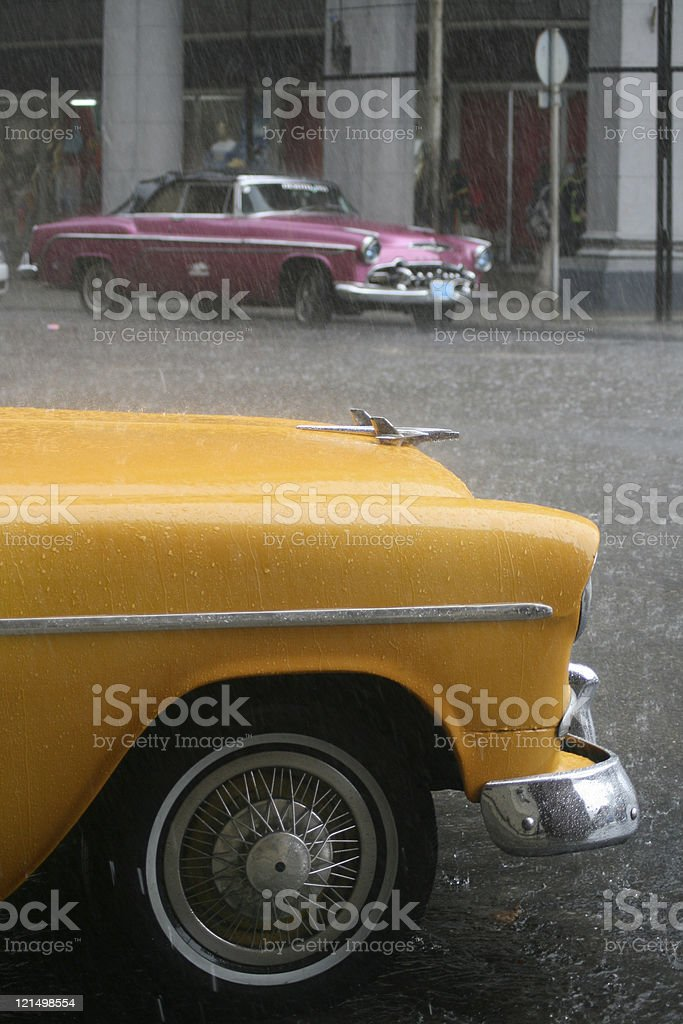 Classic Cars in Cuban City of Havana stock photo