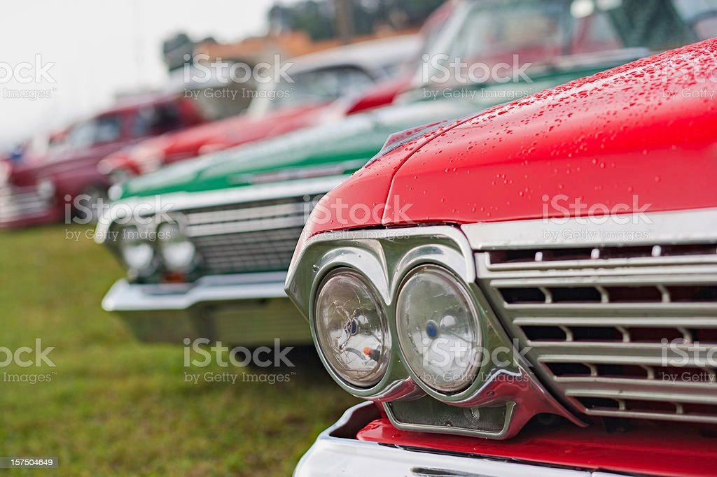 Classic Cars on Parade stock photo