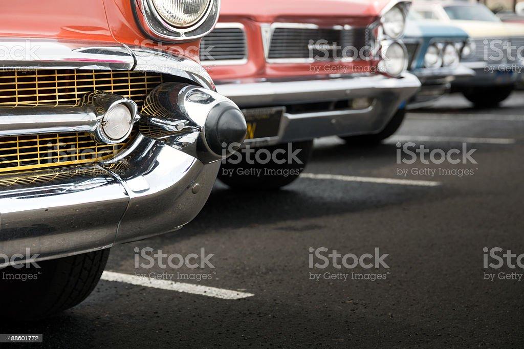 Classic cars stock photo