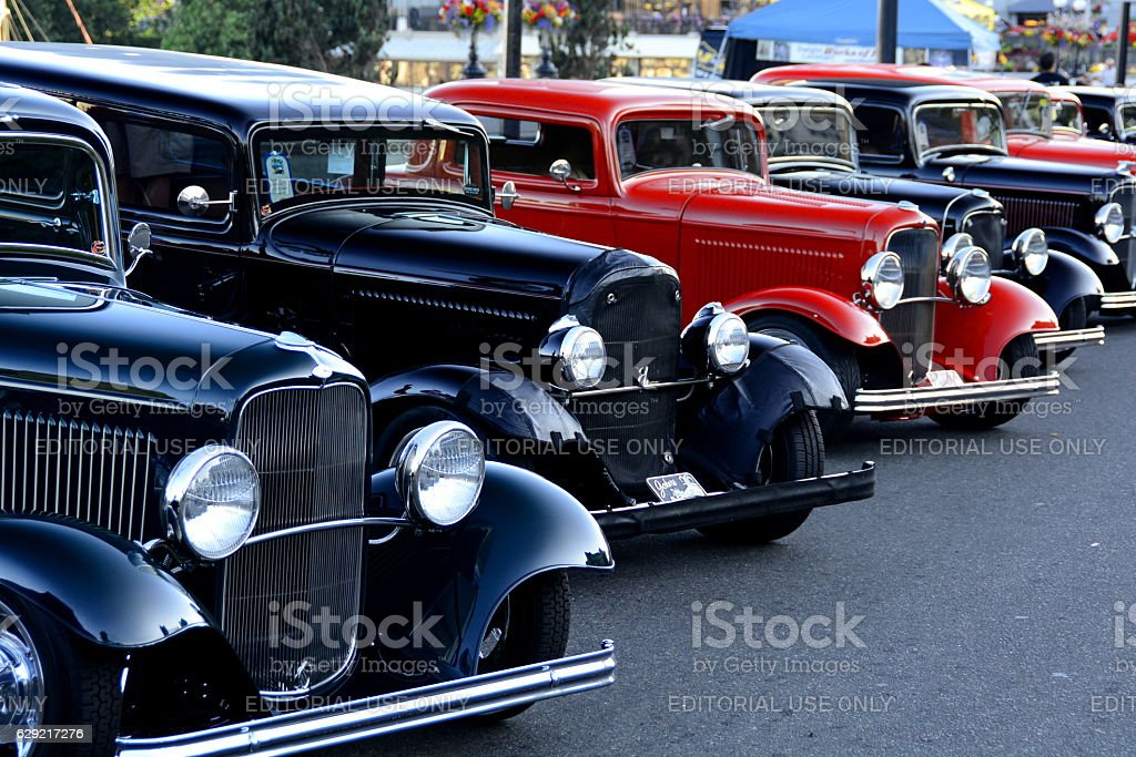 Classic autos stock photo