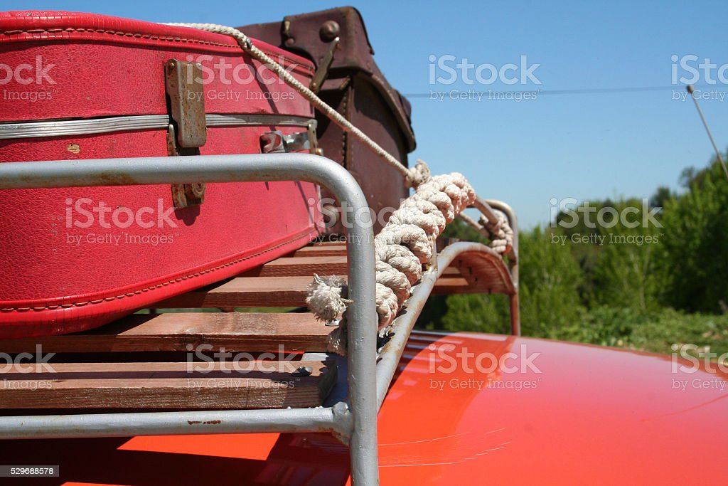 Classic car's roof rack royalty-free stock photo