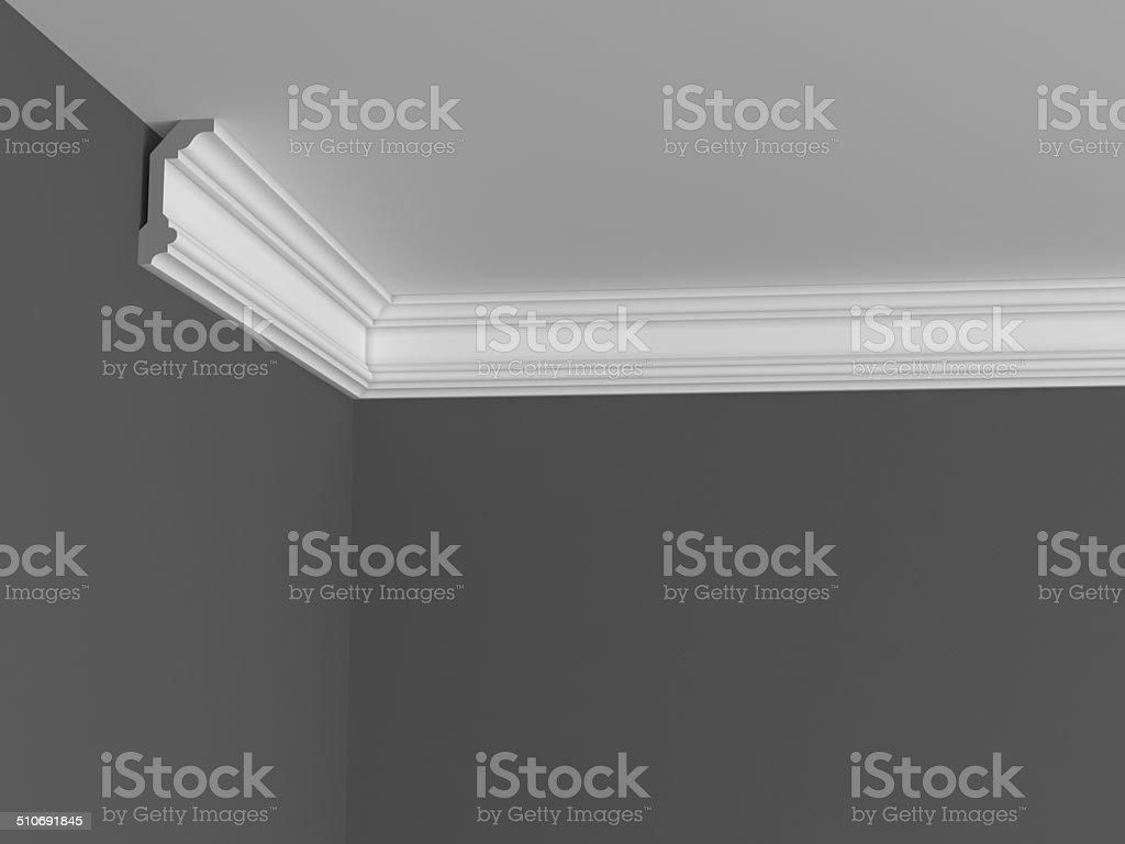 Classic ceiling cornice stock photo