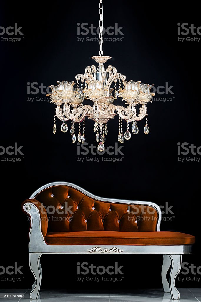Classic chandelier stock photo