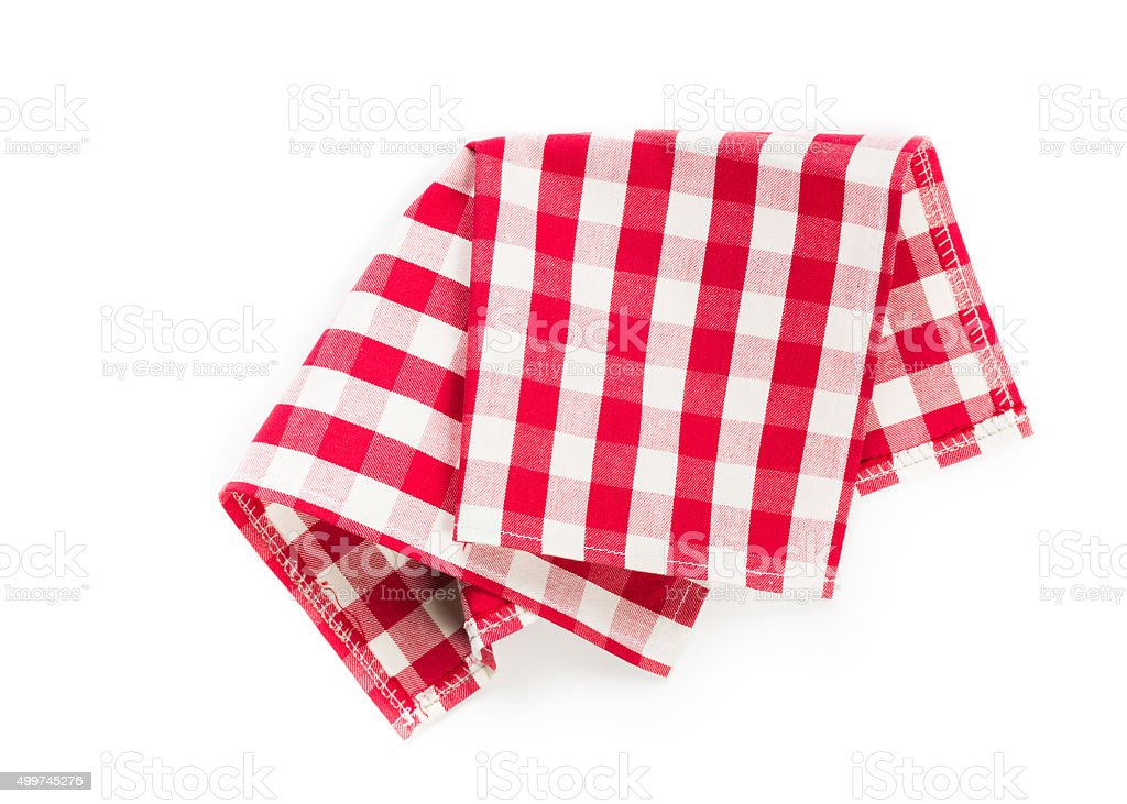 classic checkered tablecloth stock photo
