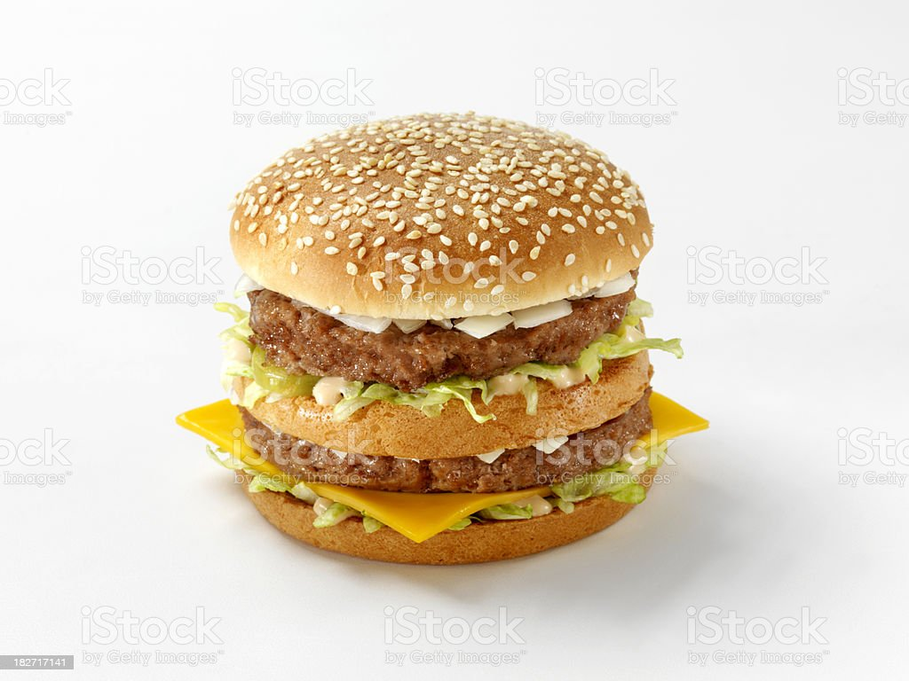 Classic Cheese Burger with Special Sauce royalty-free stock photo