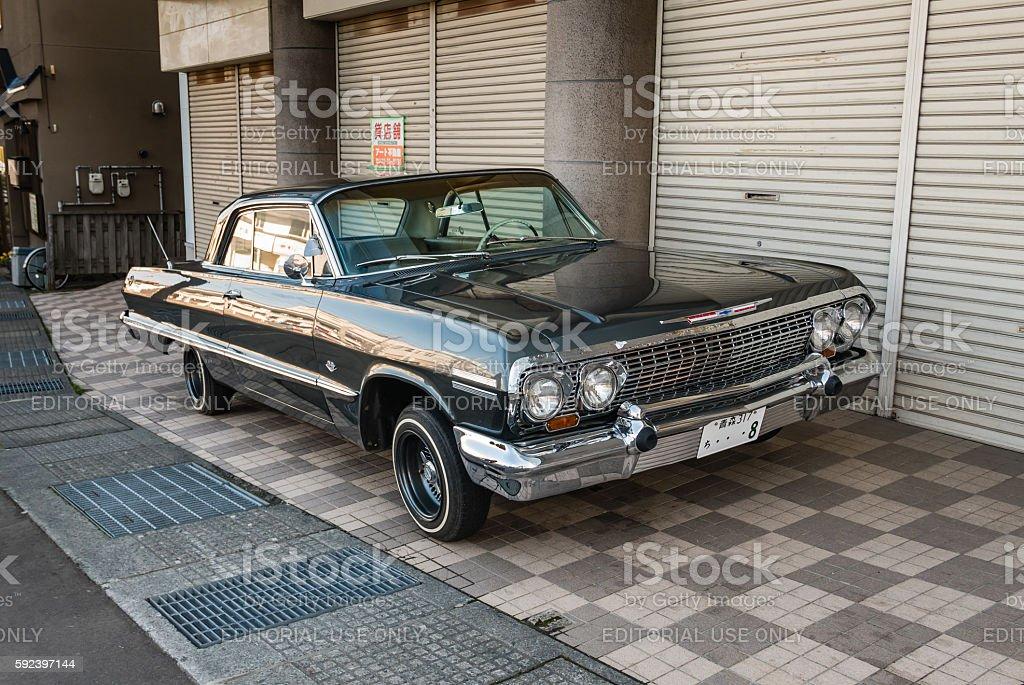 Classic Chevrolet car stock photo