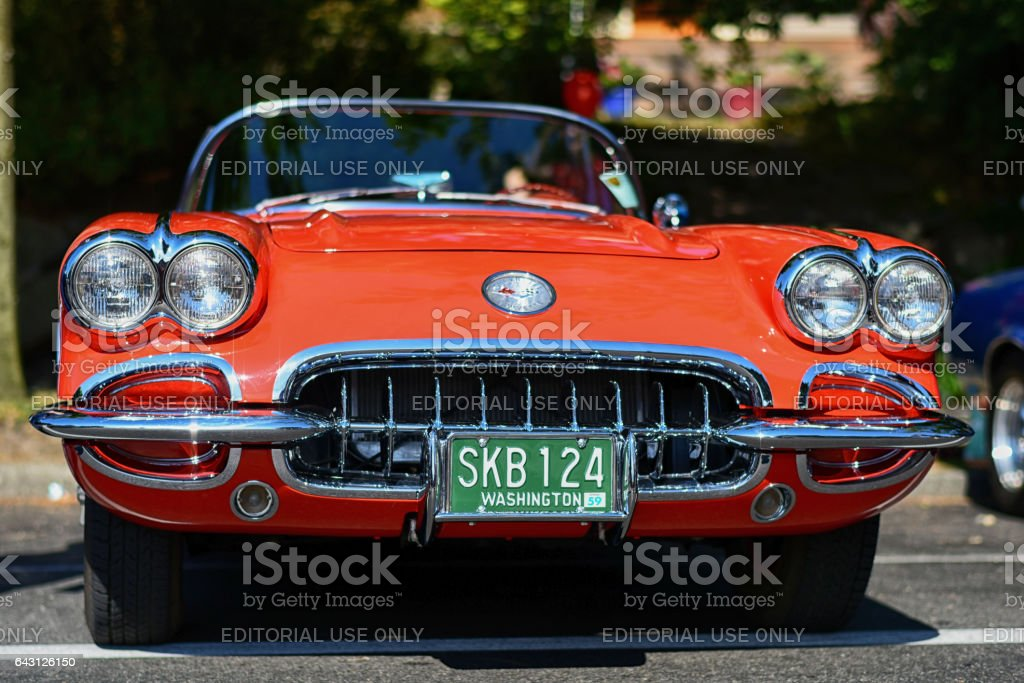 Classic Chevrolet Corvette stock photo