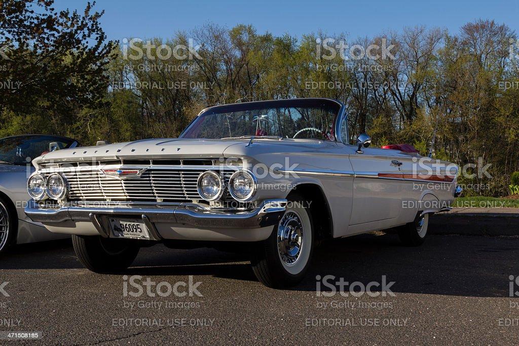Classic Chevrolet Impala At A Car Show stock photo