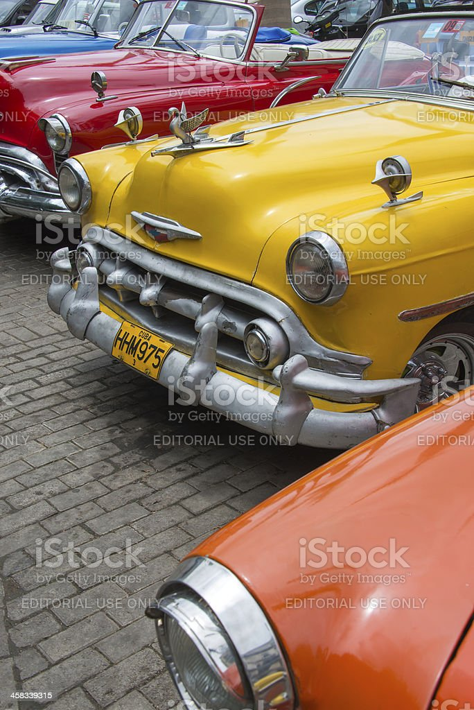 Classic Chevrolets royalty-free stock photo