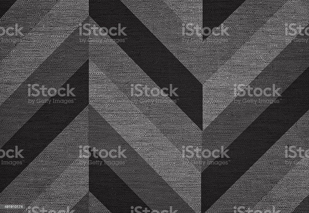 Classic chevron pattern background, grunge canvas texture, hi res stock photo