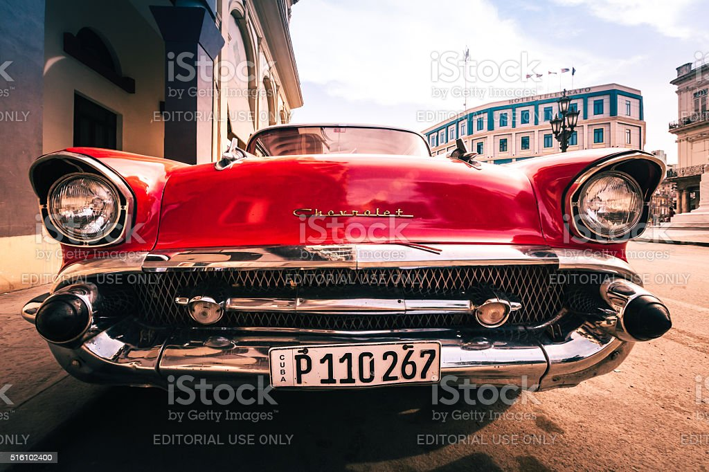 Classic Chevy in Havana stock photo