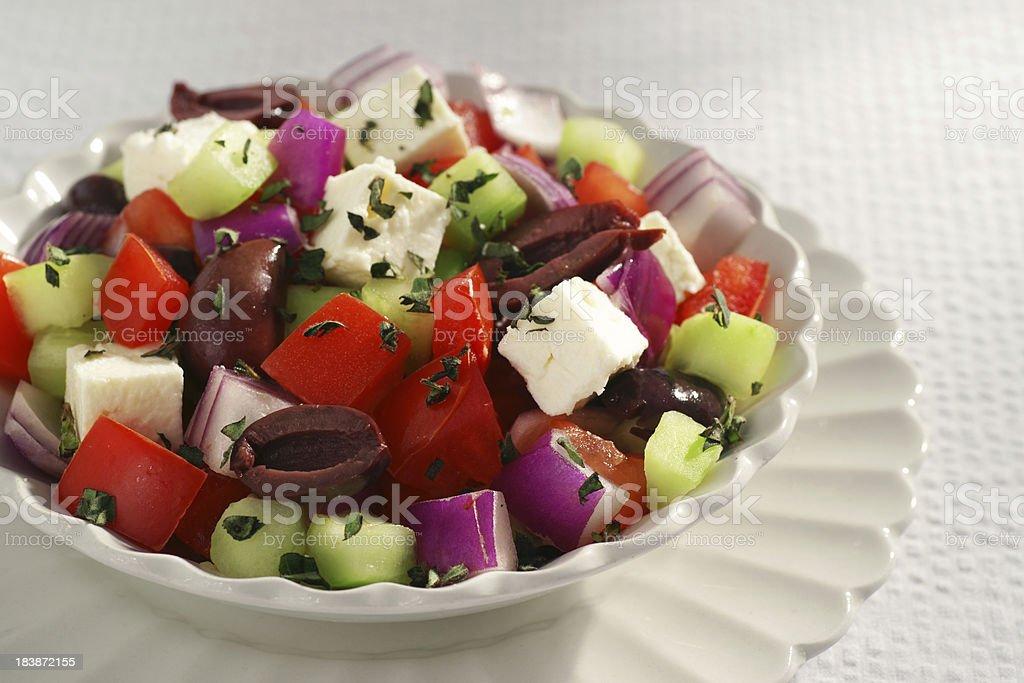 Classic Chopped Greek Salad royalty-free stock photo