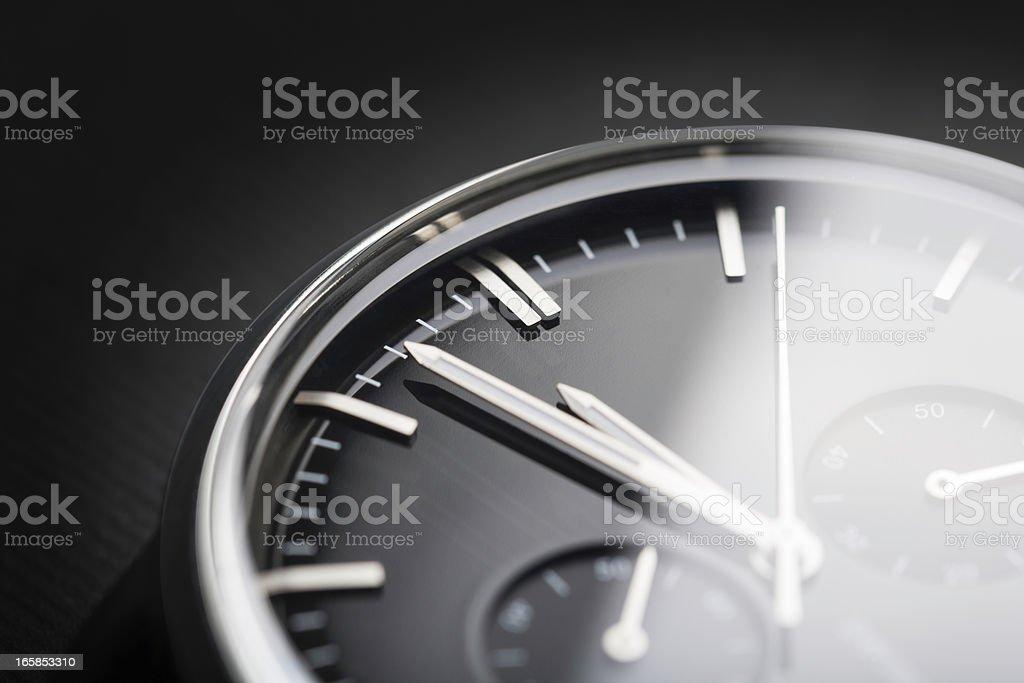 classic chronograph wristwatch stock photo