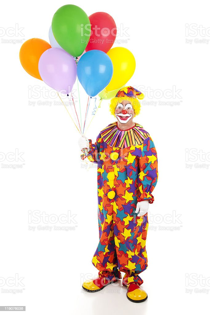 Classic Clown with Balloons royalty-free stock photo
